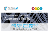 [CrossLab si presenta] Augmented Reality, 18 settembre
