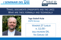 [Seminari del DII e CyberSecurity Master] Travel documents (passports and the like): What are they; formally and technically, 27 luglio